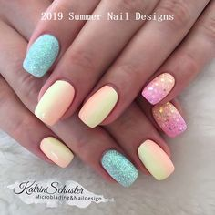 Here are over 39 stylish white acrylic nails for you to undertake this summer. Chic nails are every women dream. no one desires to envision atrocious nails. Summer Holiday Nails, Bright Summer Nails, Cute Summer Nails, Summer Acrylic Nails, Cute Nails, Summer Shellac Nails, Summer Nails 2018, Nail Summer, Bright Gel Nails