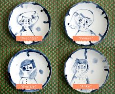Ceramic dessert plates by Tuesday Bassen #illustration