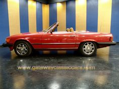 "When I was 18, this was my dream car: candy apple red Mercedes Benz 450SL. Now it's called a ""classic?"" lol"