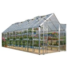 With this Solarium Greenhouse Nursery. and Grow greenhouse. polycarbonate panels let in abundant.