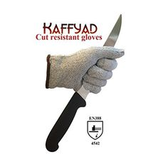 Kaffyad TM Level 5 Cut Resistant Kitchen and Work Safety Gloves Protection from Knives Mandolines and Graters EN388 Certified Great for cutting meat filleting fish or shucking oysters Lightweight Flexible and Food Safe Medium Grey pair Color 2 gloves 1 pair Size Medium Model GRM2 -- To view further for this item, visit the image link.
