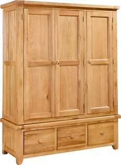Devon Oak Triple Wardrobe With 3 Drawers we have on our site! http://www.furniturestyleonline.co.uk/Devon-Oak-Triple-Wardrobe-With-3-Drawers.html
