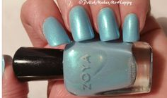 "Showcasing a Zoya Nail Polish from their Delight Collection, Spring 2015, RAYNE! Love this! Zoya says it ""can be best described as a dewy, spring blue metallic with an energizing turquoise metallic flash"". I might add a shimmer of green in there too.. Just GORGEOUS!"