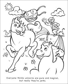 14 best coloring book unicorns are jerks images on pinterest coloring books unicorns and stress - Unicorns Are Jerks Coloring Book
