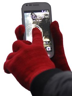 """""""Stlish-Red"""" TTgloves - The Touchscreen Gloves"""