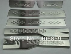 86.72$  Buy now - http://ali5rp.worldwells.pw/go.php?t=32376554061 - High quality stainless steel inside Scuff Plate/Door Sill For 2010-2012 Mitsubishi ASX  86.72$