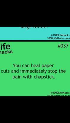 ChapStick is just amazing. Lol