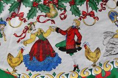 12 Days of Christmas Table Cloth - SOLD! :)
