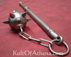 Spiked Flail (Pic 3). One of the hardest hitting weapons used by medieval knights was the flail. Its jointed head increased the force of the blow. It required great skill. In the hands of the untrained it was as dangerous to the user as it was to his opponent.