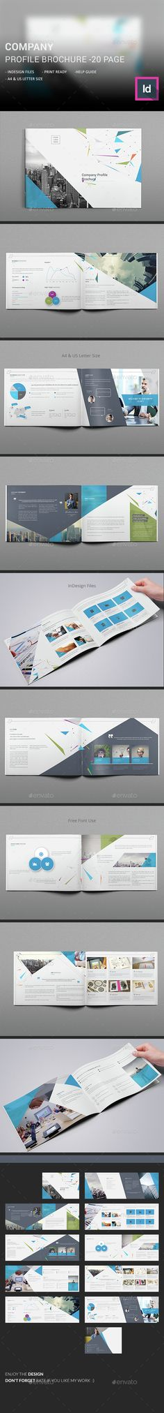 The Network Landscape Brochure Brochure template, Brochures and - it company profile template