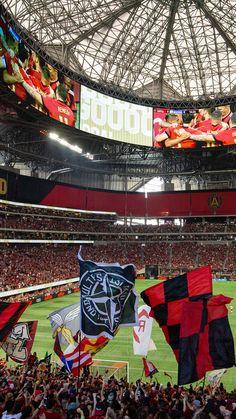 Atlanta United Fans Atlanta United Rowdy and Proud Atlanta United Fc, Iphone Homescreen Wallpaper, Real Madrid Football, Sports Pictures, Atlanta Falcons, Mercedes Benz, Fan 2, Soccer, The Unit