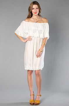 The Cutwork Dream Dress in White Combo by Free People at karmaloop.com