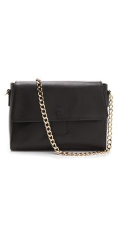 A.P.C. Chain Shoulder Bag  http://www.focusonstyle.com/fashion/frenchchic/  #FrenchChic #Parisianstyle #frenchbrands #whattowearinParis