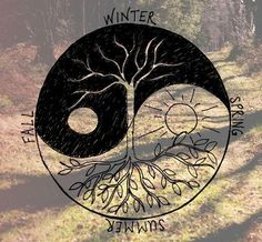 Image via We Heart It https://weheartit.com/entry/79434352/via/13802995 #art #doodle #photography #seasons #summer #tattoo #winter #yang #ying #yingyang