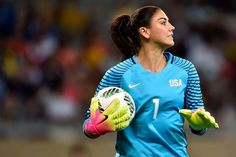 Hope and play:   Hope Solo of United States looks on during a first-round match against New Zealand on Aug. 3 at Mineirao Stadium in Belo Horizonte, Brazil.  -  2016 Summer Olympics