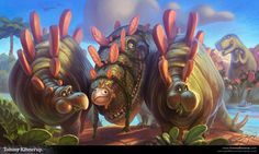 Digital Painting process by Tommy Kinnerup, via Behance