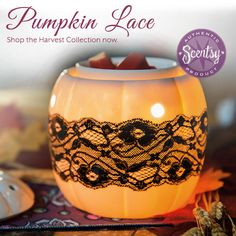 Scentsy Harvest Warmer | Pumpkin Lace