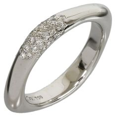 Tiffany And Co 18K White Gold Diamond Ring