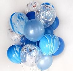 marbled and confetti balloon set kids party ideas, 1st birthday party, first birthday party, balloons, party decor
