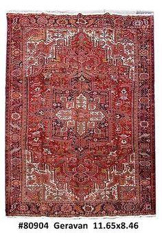 9' x 12' Persian Heriz Carpet Royal geometric rugs Made by hand Rug
