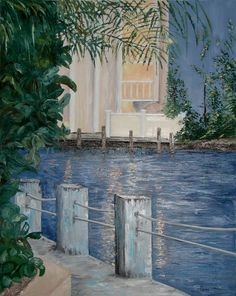 Evening Walk - oil on canvas  Painted from a photograph I took in the Bahamas.