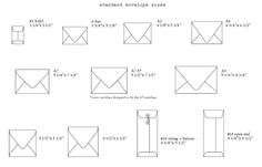 21 Best Sizes For Invites And Envelopes Images Invitations