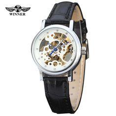 Winner Top Luxury brand watches Fashion Women s Watch Skeleton Automatic Mechanical Wristwatch Relogio feminino 2016