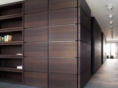47 New Ideas Hidden Door Detail Shelves Dark Wood Desk, Door Design, House Design, Doors And Floors, Interior Walls, Interior Design, Wardrobe Design, Wall Cladding, Closet Doors