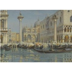 Artwork by Charles Oppenheimer, The Piazzetta Venice, Made of oil on canvas