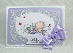 Phoebeez: Hello little one. Yvonne van de Grijp Lili of the valley, LOTV Coloring pencils Spellbinders Baby card Baby Barn, Polychromos, Lily Of The Valley, Doll Patterns, Colored Pencils, I Card, Making Ideas, Baby Dolls, Baby Theme