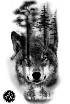 Wolf # # # # - Land of Tattoos Wolf Tattoos, Native Tattoos, Animal Tattoos, Body Art Tattoos, Girl Tattoos, Tattoos For Guys, Wolf Tattoo Design, Forearm Tattoo Design, Wolf Design