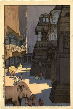 Artist Hiroshi Yoshida -- the Japanese discover Tourism. This was taken in India.