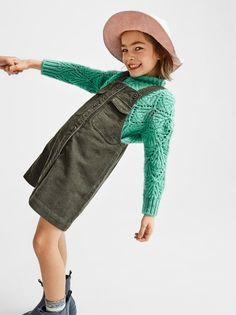 ZARA - KIDS - PLAIN CORDUROY PINAFORE DRESS