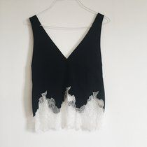 Zara studio black cami top with white lace detailing. Such a pretty top, Size S - 8/10. Brand new with tags