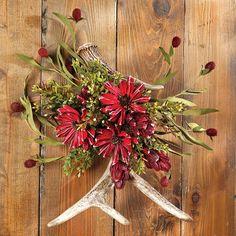 Deer Antler Floral Arrangements | Antler Floral Wall Hanging