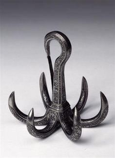 Ornate climbing hook from 1575-1580 Nuremberg & Dresden. Maker: Balthasar Hacker