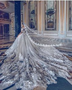 Embroidered Wedding Gown offered by Christian Wedding Dresses Store, a prominent supplier of Embroidered Wedding Dress in. Flowery Wedding Dress, Princess Wedding Dresses, Dream Wedding Dresses, Bridal Dresses, Wedding Dress Long Train, Butterfly Wedding, Dresses Dresses, Couture Wedding Dresses, Ball Gown Wedding Dresses