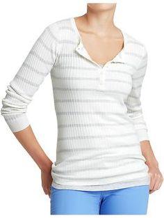 Women's Rib-Knit #Henley Tops | Old Navy #longsleeve #shirt