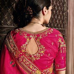 We provide authentic and branded ethnic wear products like designer sarees. Grab this topnotch weaving work designer traditional saree for bridal and wedding. Saree Dress, Saree Blouse, Cotton Blouses, Cotton Silk, Simple Sarees, Ikkat Silk Sarees, Traditional Sarees, Work Blouse, Bridal Lehenga