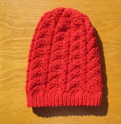Christmas gift Red child knitting hat handmade beanie hat knit child hat hand-knitted by legendida