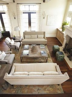 Family Room Furniture Layout How To Tips For Proper Furniture Placement . Arranging Furniture In Small Living Room - Modern House. Home and Family Formal Living Rooms, Home Living Room, Living Room Designs, Living Room Decor, Living Spaces, Living Room 2 Sofas, Living Area, Dining Room, Living Room Furniture Arrangement