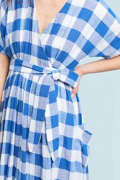 Slide View: 4: Mara Hoffman Ingrid Gingham Dress