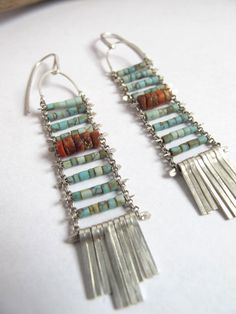 Arcosanti Sunset earrings by demimondejewelry