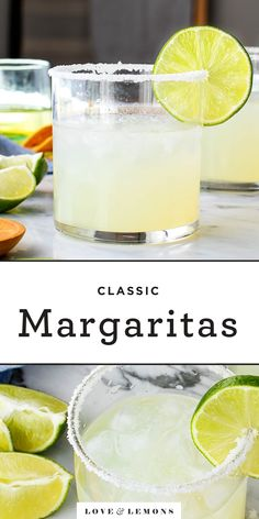 Learn how to make a margarita with this simple recipe. Perfect for Cinco de Mayo, Friday nights, or any celebration. Best served with guac and tortilla chips! Classic Margarita Recipe, Margarita Recipes, Cocktail Recipes, Cocktail Drinks, Dinner Recipes, Homemade Margaritas, How To Make Margaritas, 5 Ingredient Recipes, Cinco De Mayo