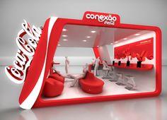 Conexão Coca-Cola by Natasha Valente, via Behance Pop Design, Display Design, Store Design, Ads Creative, Creative Advertising, Print Advertising, Advertising Campaign, Print Ads, Exhibition Stall