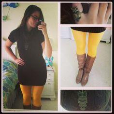 #OOTD | Owl be your Sunshine. ✨ @hoosiergirl1987 @thedressdare #thedressdare #tights #dress #sweaterdress #girl