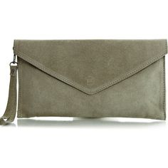 2d9cd9d59b8c7 Pretty Lavish Beige Suede Envelope Clutch Bag ( 47) ❤ liked on Polyvore  featuring bags