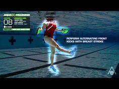 Aqua Sphere Swim - Aqua X Training - Power Gloves - Breast Stroke Swimming Pool Exercises, Pool Workout, Swimming Pools, Power Glove, Aquatic Therapy, Training Videos, Zumba, Triathlon, Kicks