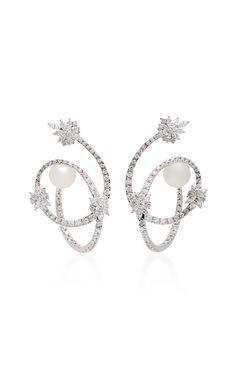 Pearl Scent Spiral Earrings by YEPREM for Preorder on Moda Operandi