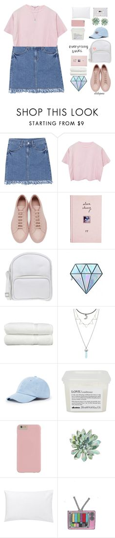 """""""i loved you"""" by itstepna ❤ liked on Polyvore featuring Common Projects, ASOS, Jil Sander Navy, Unicorn Lashes, Linum Home Textiles, Hot Topic, Sole Society, Davines, Jigsaw and ban.do"""